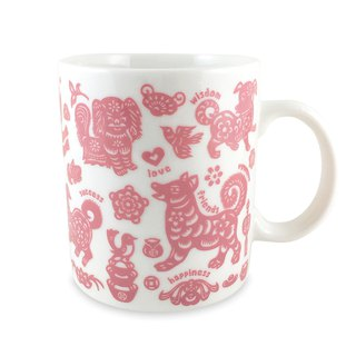 Ten Dogs and Ten Beauty Dog Mugs (Pink)