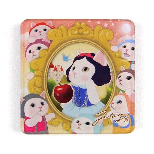JETOY, Sweet Cat Fridge Cat Magnet (4*4cm)_Snow white J1707211