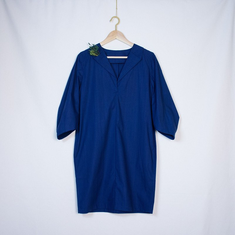 3/4 Sleeves  Indigo Tunic  Dress