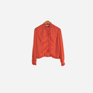 Discolored vintage / orange folds embroidered shirt no. 503 vintage