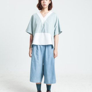 Alan Hu 2017 S/S and collar blouse