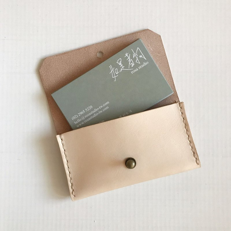Envelope business card holder _ single layer _ original leather _Card holder