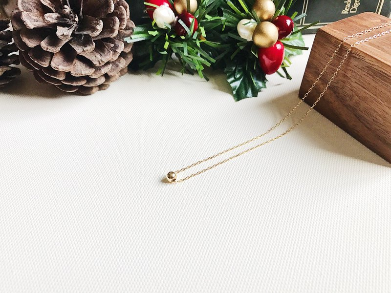 ::Golden Christmas :: Single Golden Ball Secret Necklace