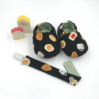 Bread coffee (black bottom) - toddler shoes / baby shoes / baby shoes + single buckle sling clip