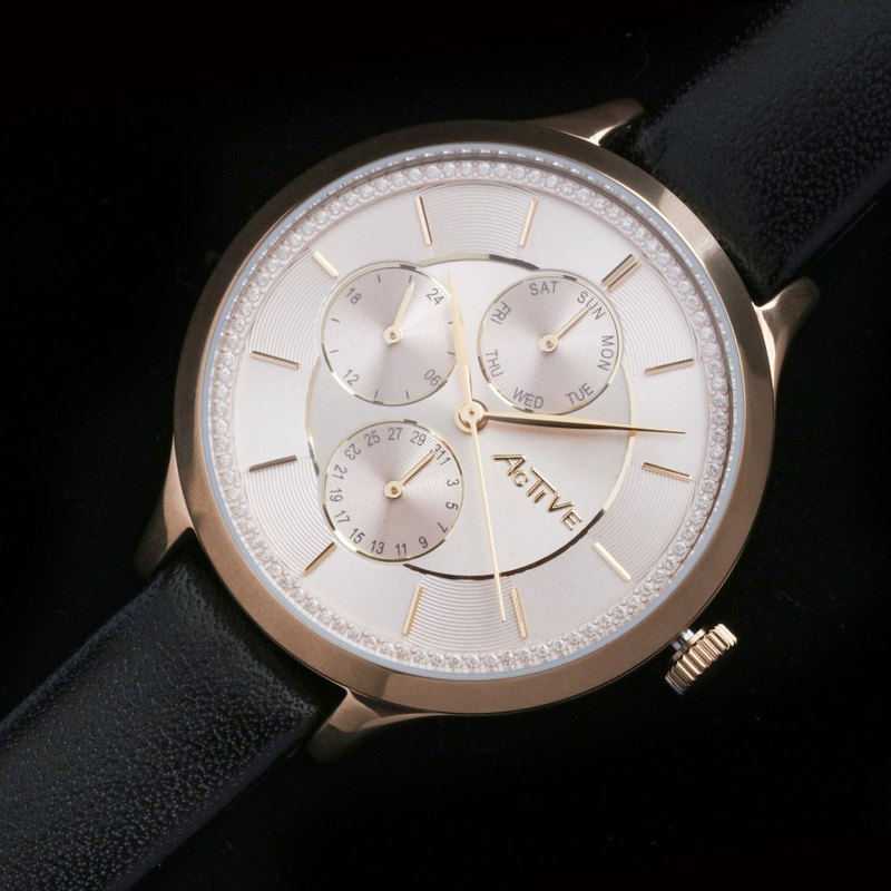 Active Fashionable Collection – All Champagne Gold Strap