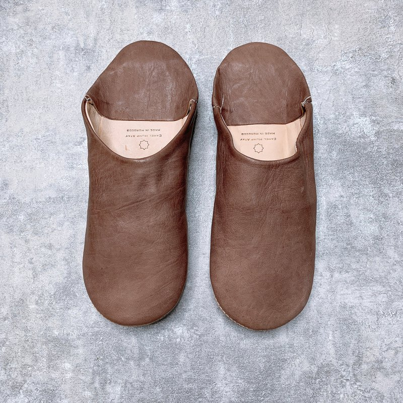Moroccan babouche mute indoor slippers pray for rain