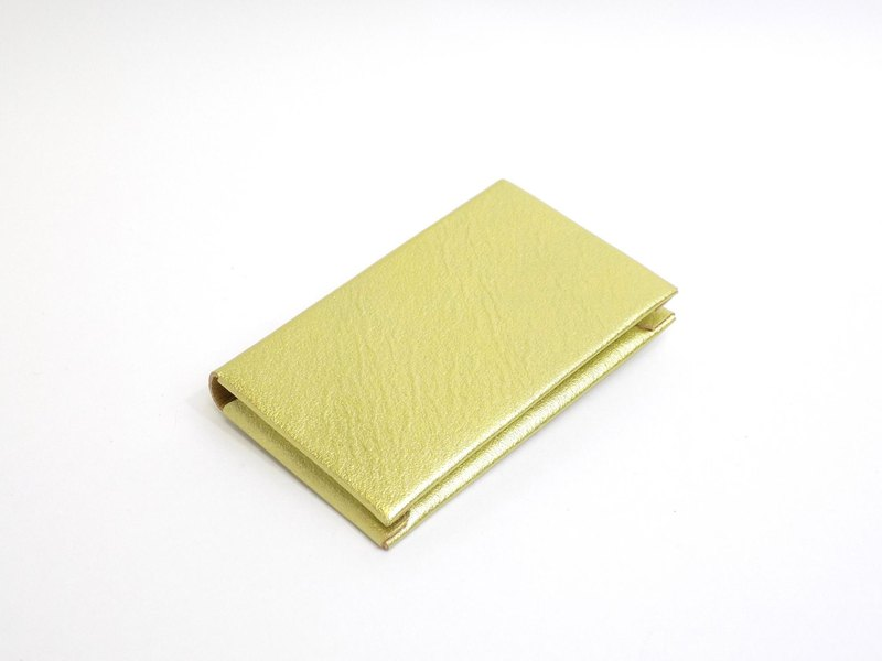 [Make-to-order production] Business card holder Both side storage type horse leather / gold