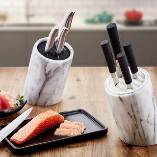 Marble slanted barrel seat / knife holder / tool holder