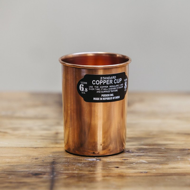 COPPER CUP Straight Industrial Style Red Copper Cup - Straight Body 400ml