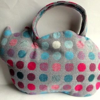 New color new work! Woolen cat bag * colorful dot light gray