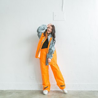 Pneumatic two-piece raincoat - orange/light gray