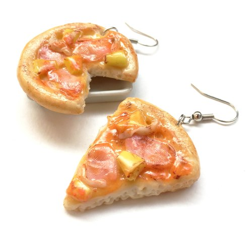 Pizza becon earringg