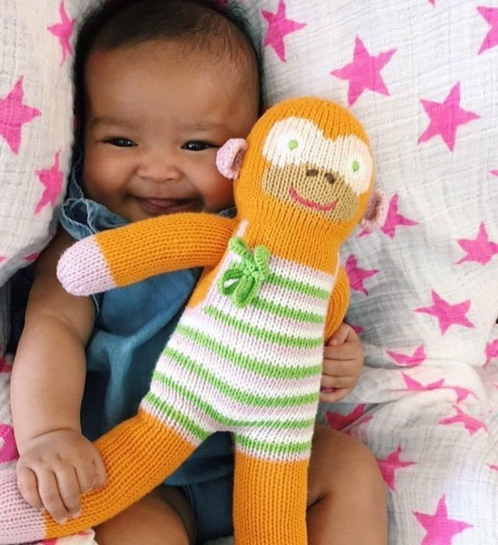 American Blabla Kids | Cotton Knitting Doll (small only) - Orange Lucky Monkey B21050240