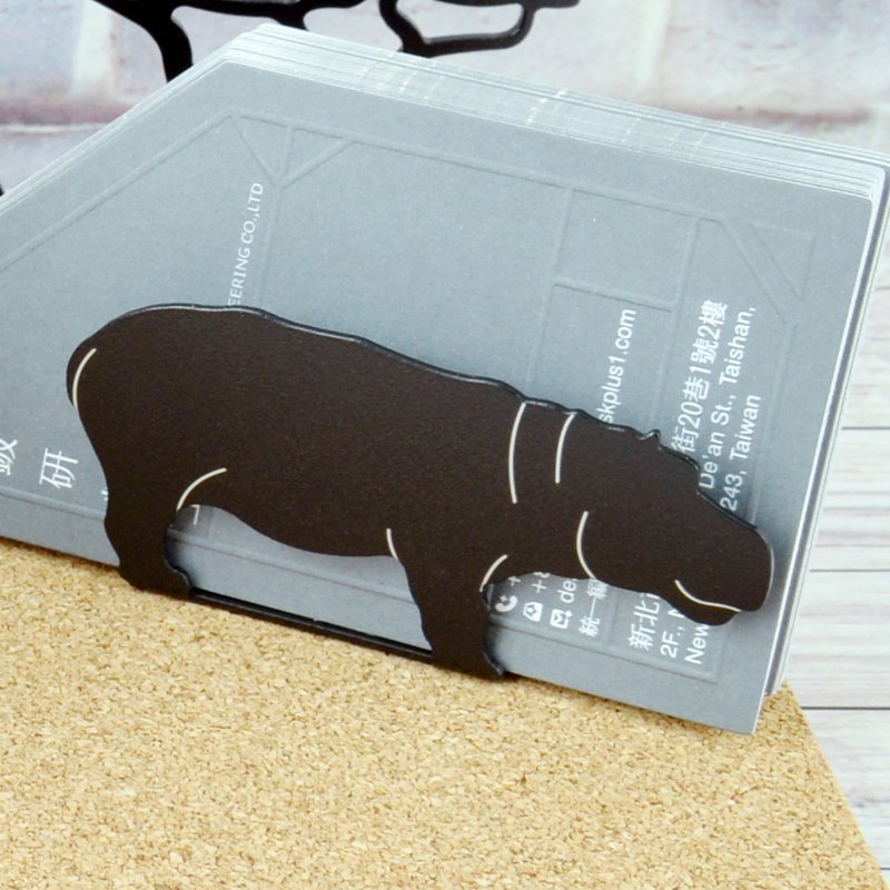 African Rhino and Hippo Business Card Holder