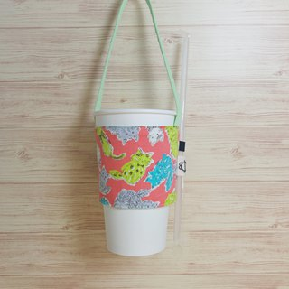 Elegant cat environmental beverage bag