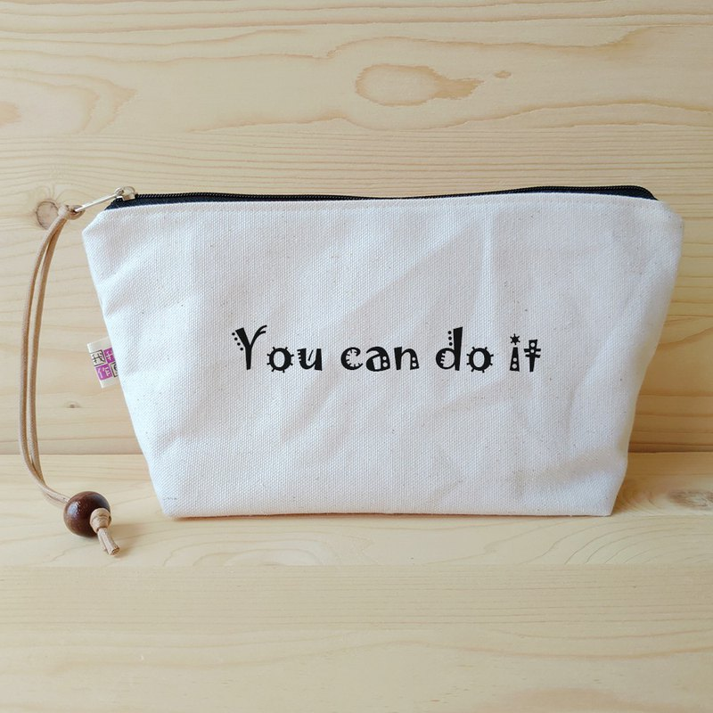 Positive energy cosmetic bag_you can do it