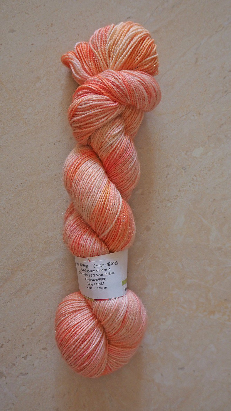 Hand dyed the line. Grapefruit (spark)