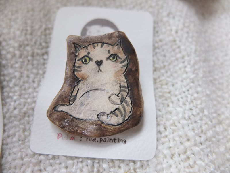 [Tao] tabby cat pins (Christmas gifts, home furnishings)