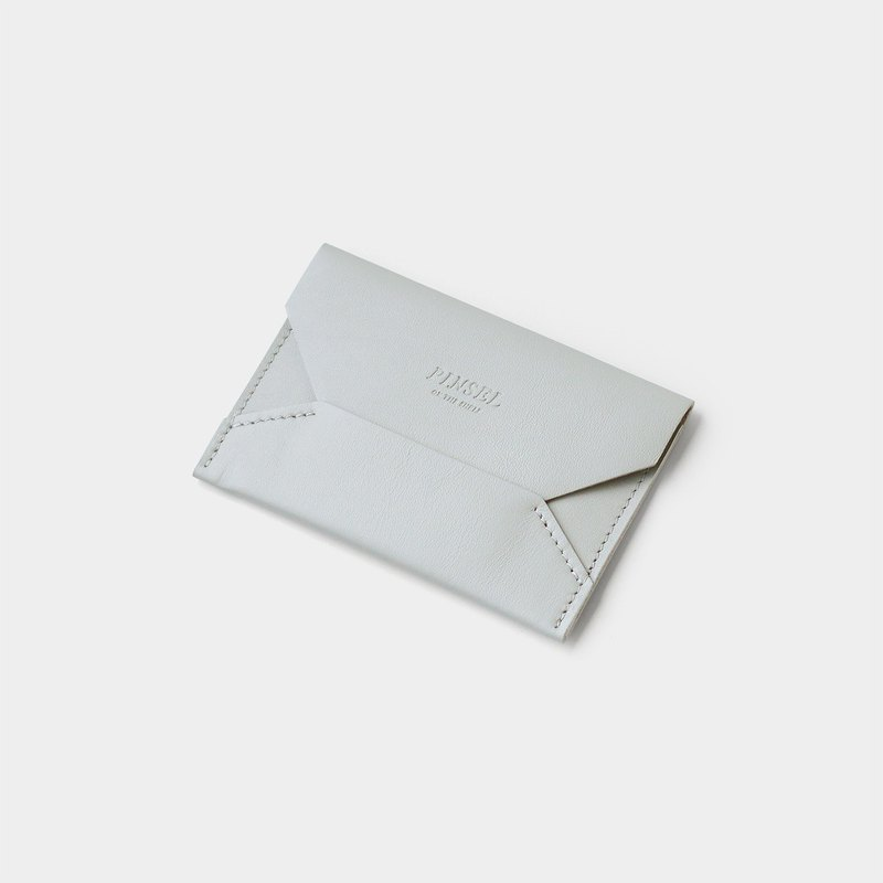 envelope card case : light grey