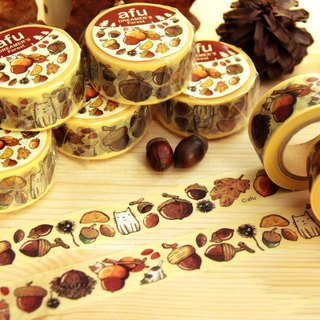 Afu Illustration Paper Tape | Gift in the Forest | Fruit Article | Japanese Paper Tape |