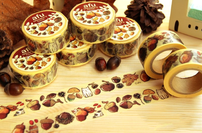 Afu illustration paper tape - gift in the forest|fruit articles|Japan and paper tape|RT made in Japan