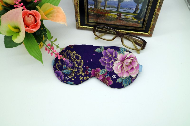 Purple bottom gilded rose adjustable sleep eye mask sleep mask