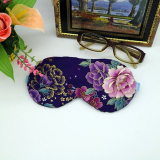 Purple Bronzes Roses Adjustable sleep eye mask with storage bag sleep mask