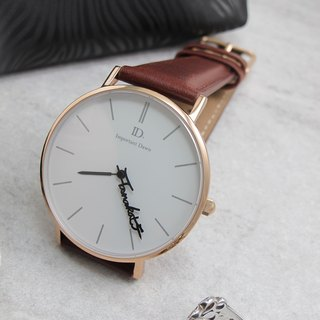 ID.watch Customized Name Pointer Watch - Classic - Leather Strap