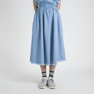Outline Contoured Skirt _8SF234_ Denim Blue
