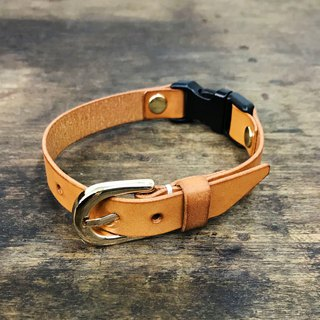 Italian leather tanned leather association original leather color child / comet collar