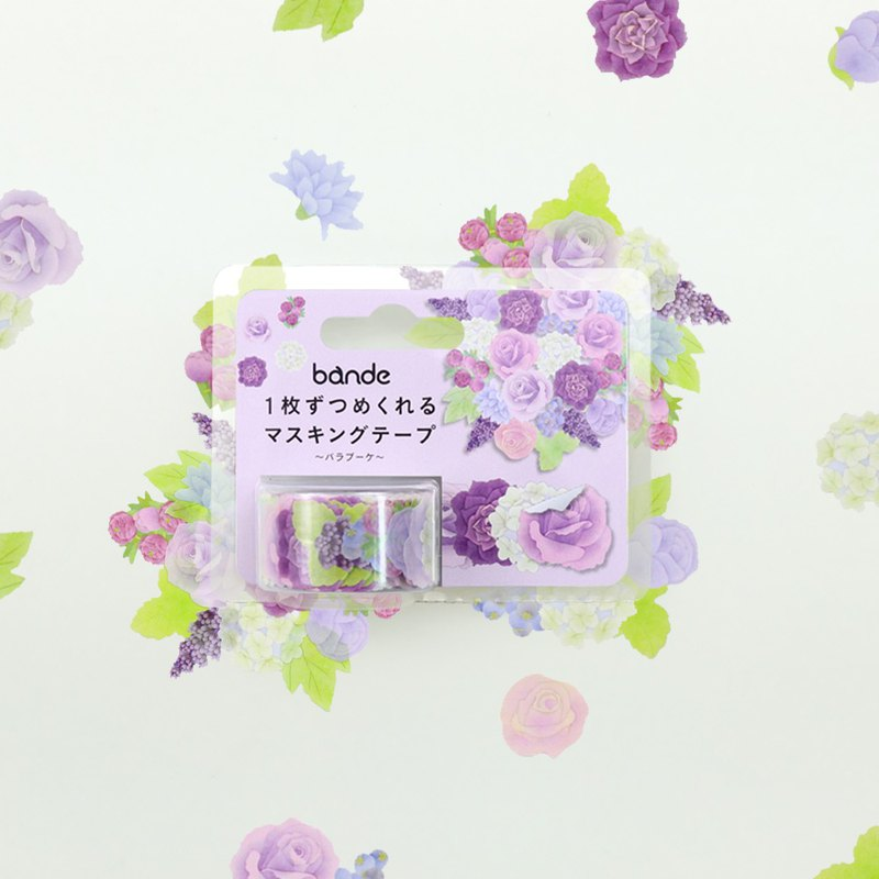 bande masking rolling sticker -- Rose bouquet