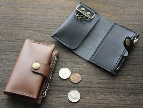 Tochigi leather Key coin case that can be used as a key case, coin case or card case