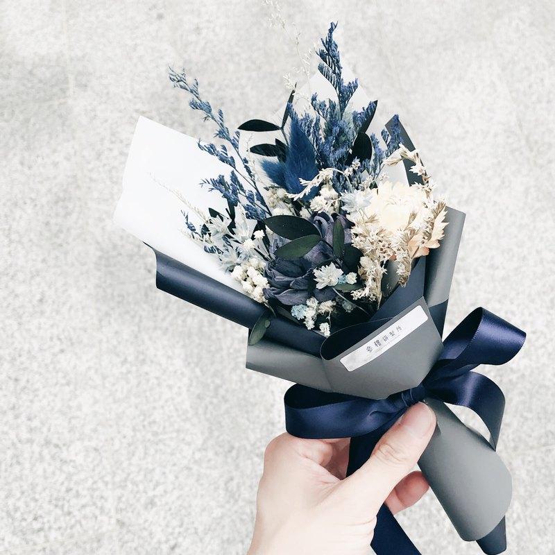 乾燥花【深藍秘境】   乾燥花束&永生花&不凋花
