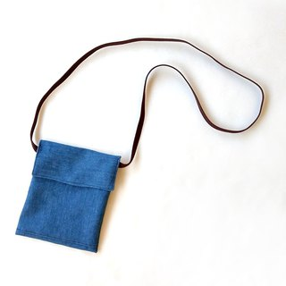 Denim denim crossbody bag (square cover) / mobile phone bag storage bag