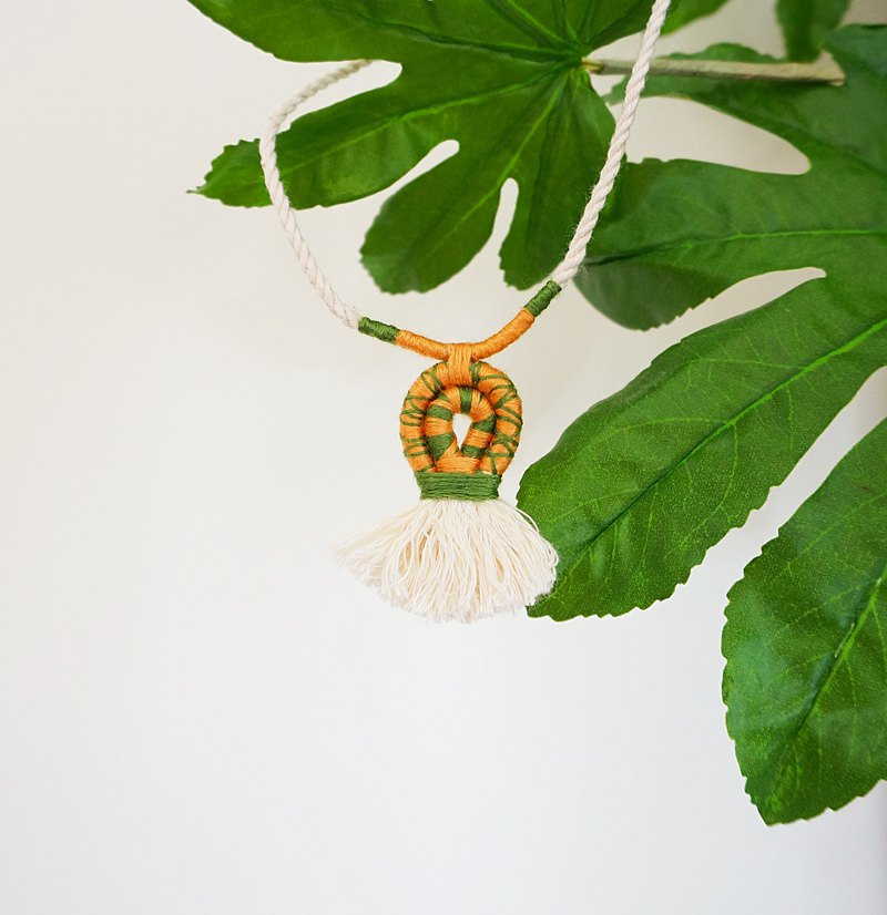 Tropical Rainforest - Tassel Necklace