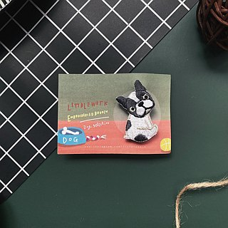Littdlework Small Animal Pins | French Bulldogs