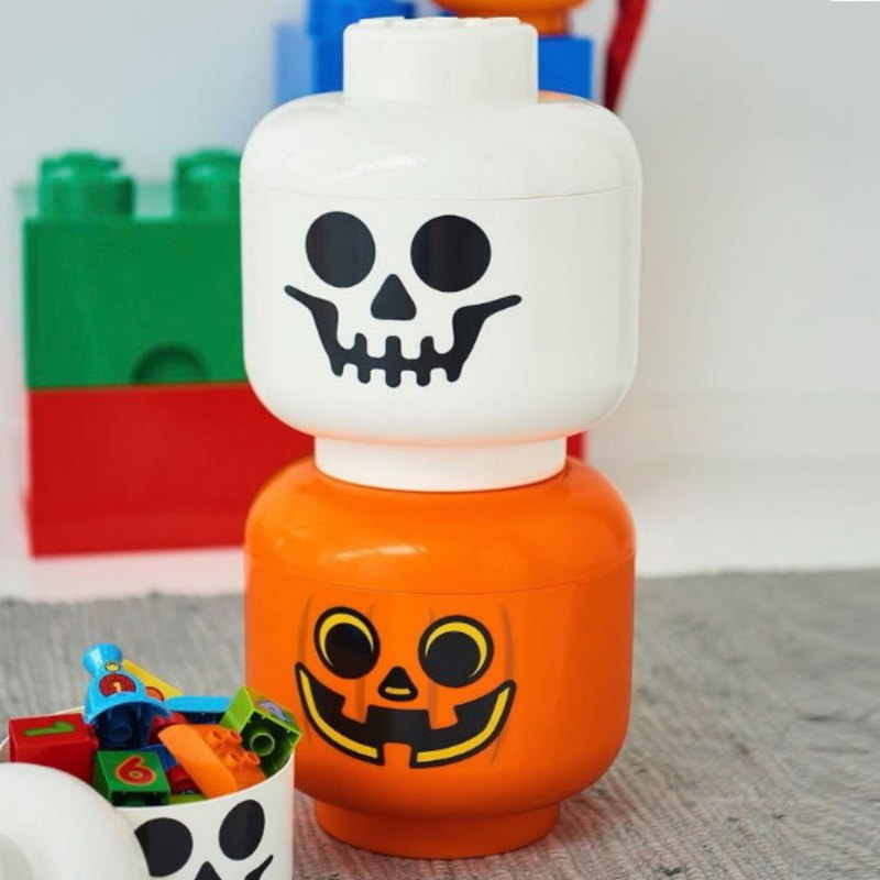 Enlarged version of the Lego head storage box (large pumpkin head / big steamed bun)