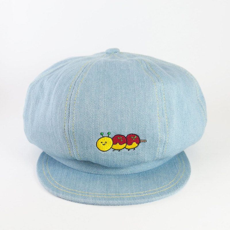 Denim - Newsboy Cap / Takoyaki Caterpillar