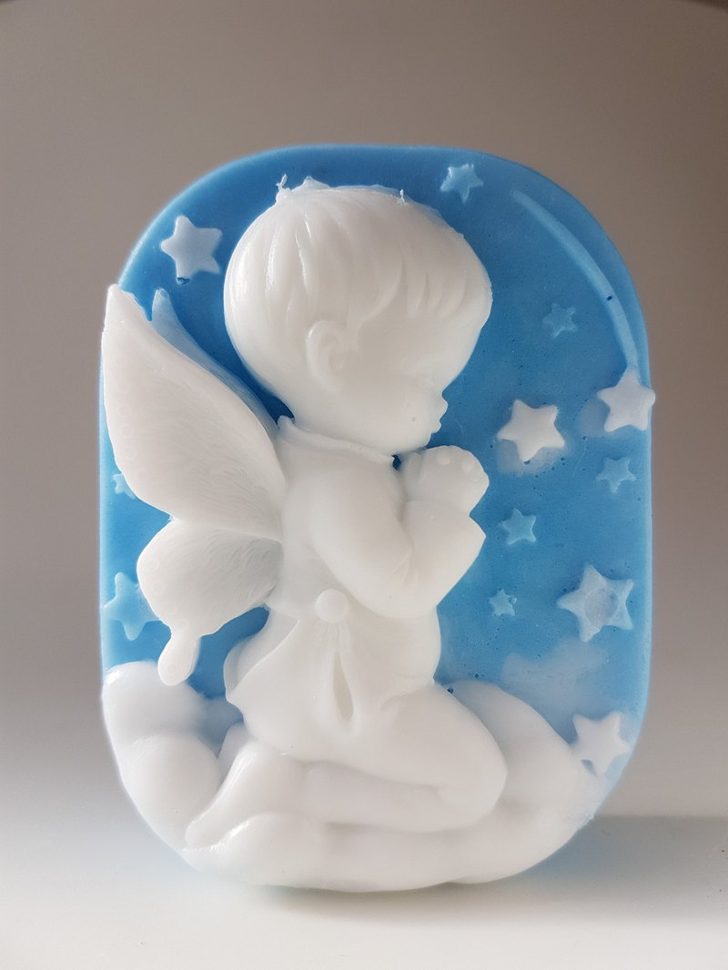 Praying Angel Boy handmade scented soap