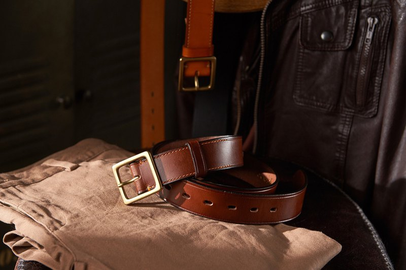 [Valentine's Day Gift] Wide Pressed Edge Vegetable Tanned Belt Deep Coffee│Boyfriend Gift│Gift Recommendation