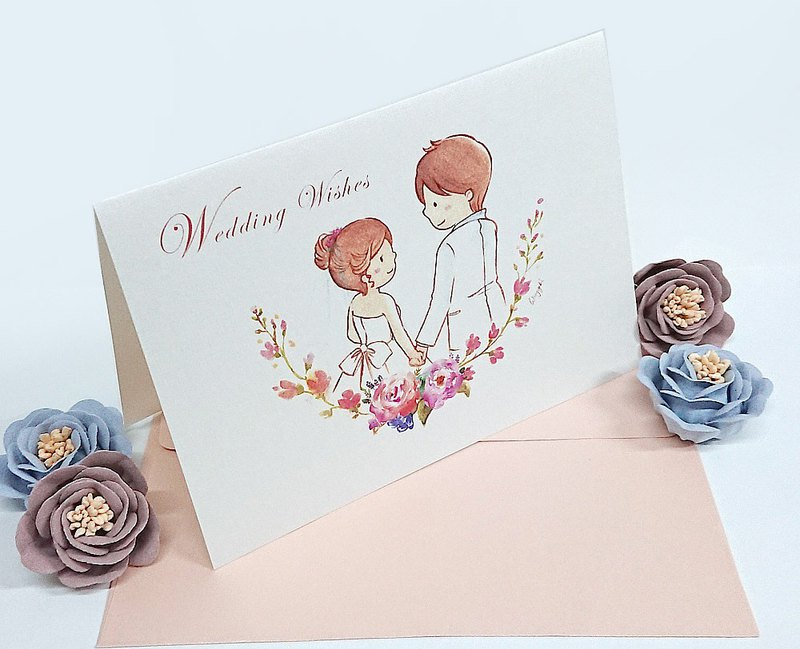 Wedding Wishes / wedding wedding card