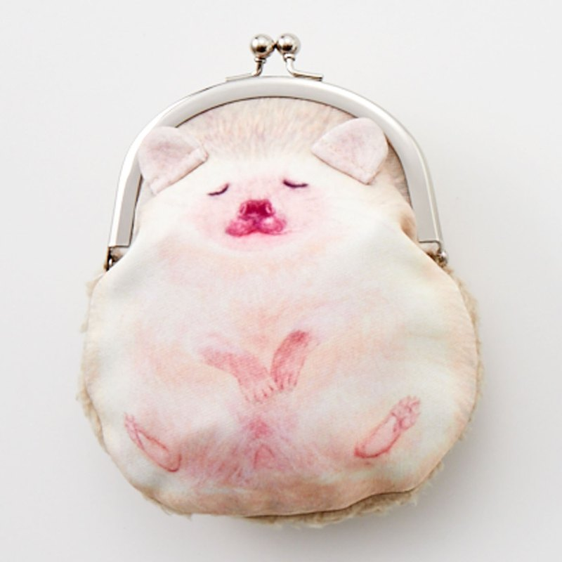 YOU+MORE! Round Hedgehog Gold Bag - Cinnamon Beige