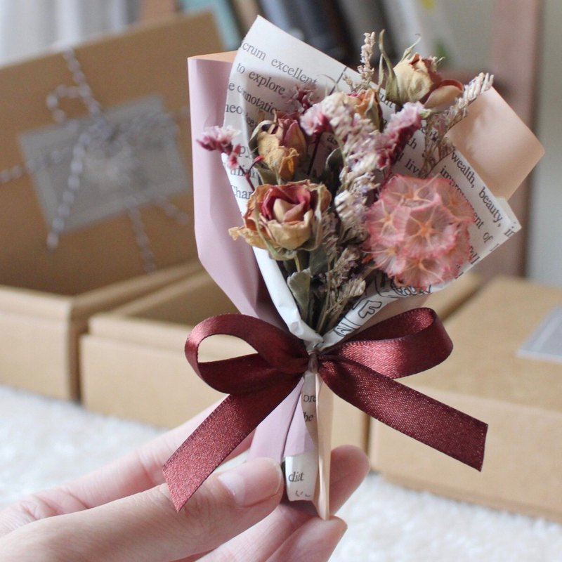 Wedding small things (magnet flower) Morandi mini dry bouquet