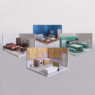 Goody Bag -【Limited-time offer】- PaperCraft - RoomBox #002 - DIY paper model