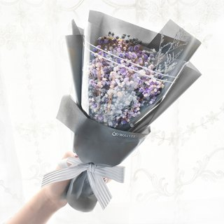 WANYI Silver Grey Purple Gypsophila Father's Day Bouquet Dry Flowers