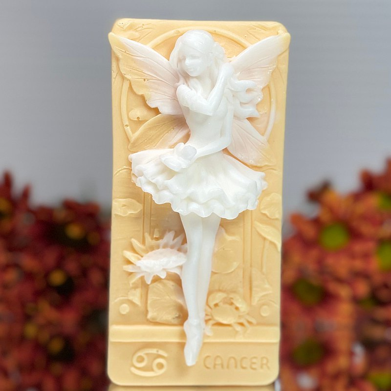 Zodiac Cancer Fairy handmade soap scented with Pear and Freesia
