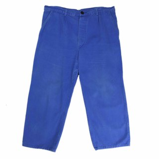 Tsubasa.Y Antique House 002 European Work Pants, Tooling Blue Trousers Work Pants