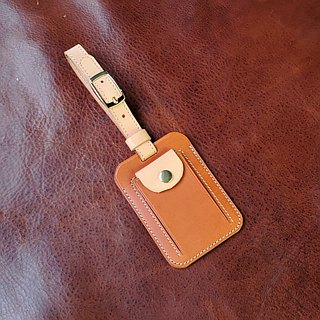 [DOZI leather hand made] luggage tag