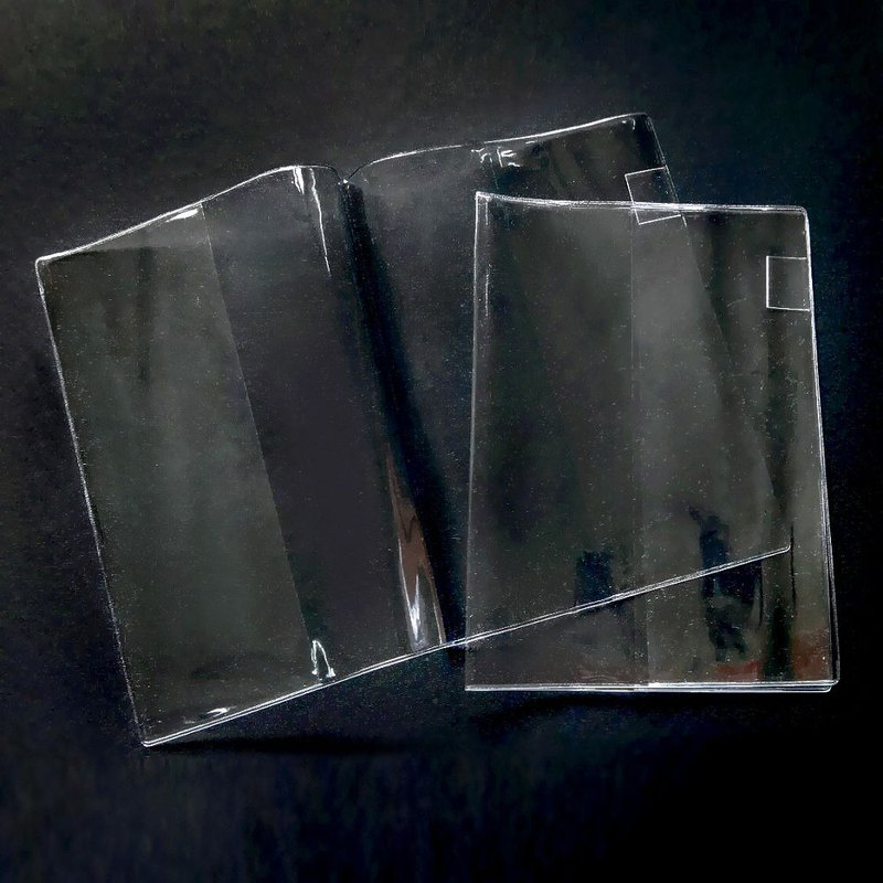 ICONIC A5 transparent book cover two (pen insert design), ICO50084S