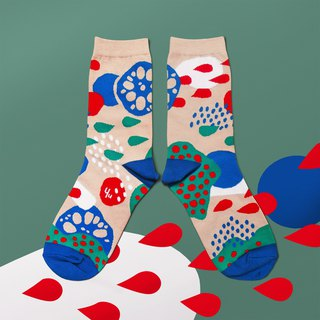 Pond Beige Unisex Crew Socks | mens socks | womens socks | colorful fun socks